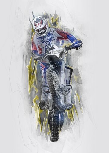 Motocross Extreme Sports  Canvas Framed Wall Art -13